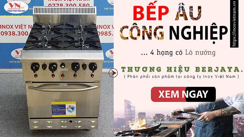 Bếp âu công nghiệp 4 họng Berjaya