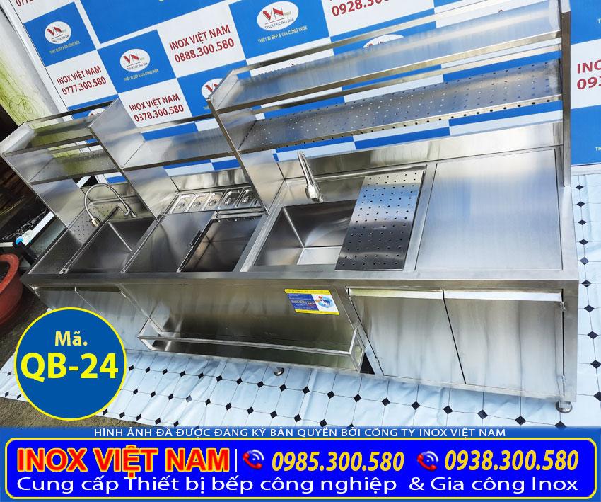 Quầy bar trà sữa inox 2m7 QB-24