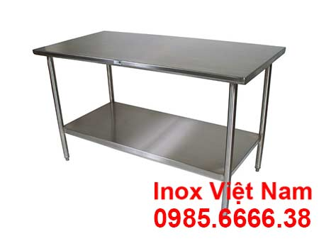 Kệ inox phẳng 2 tầng
