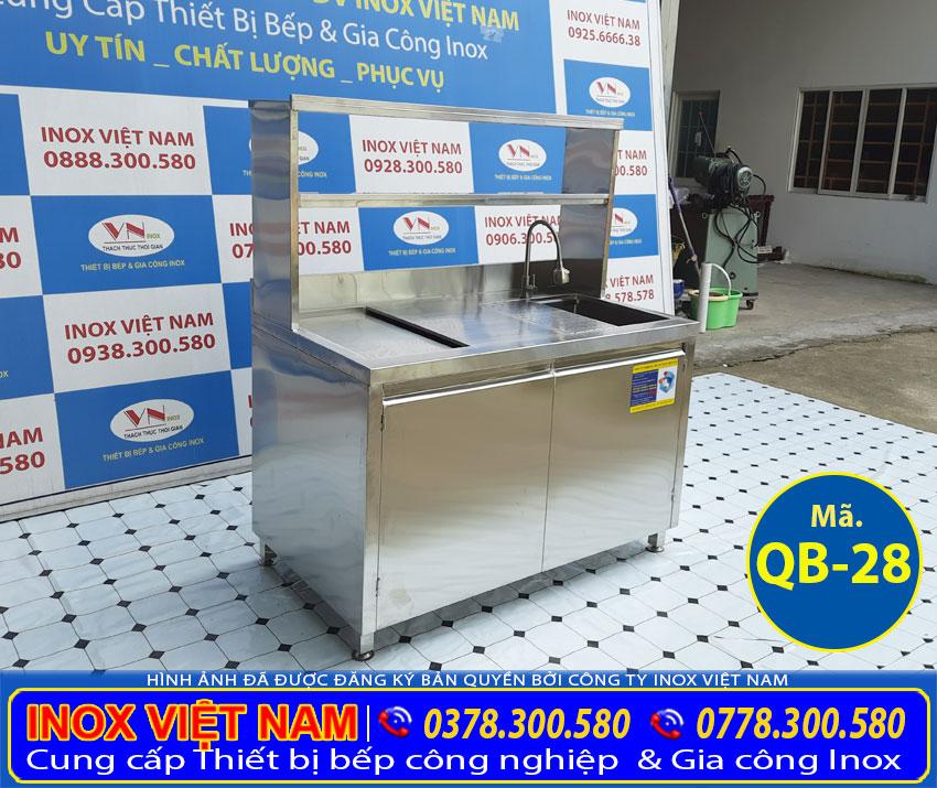 Mẫu quầy bar inox QB-28 chất lượng, giá phải chăng