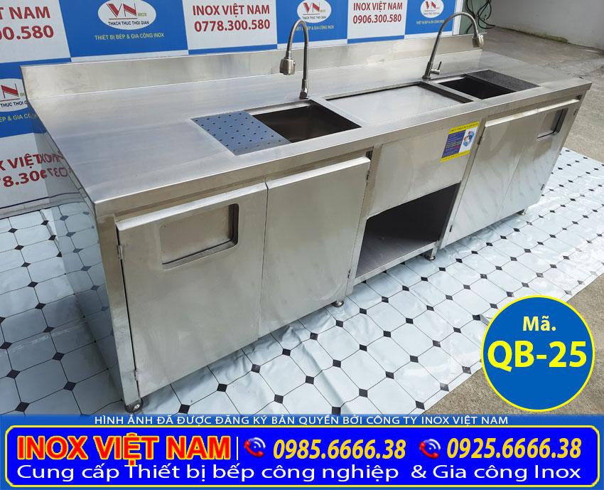 Quầy bar trà sữa inox QB-25