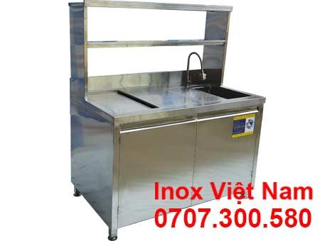 Quầy pha chế inox mini chất lượng cao QB-28