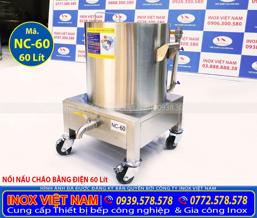 Mua Nồi nấu cháo bằng điện 60 lít, nồi điện nấu cháo giá tốt chất lượng tại Inox Việt Nam