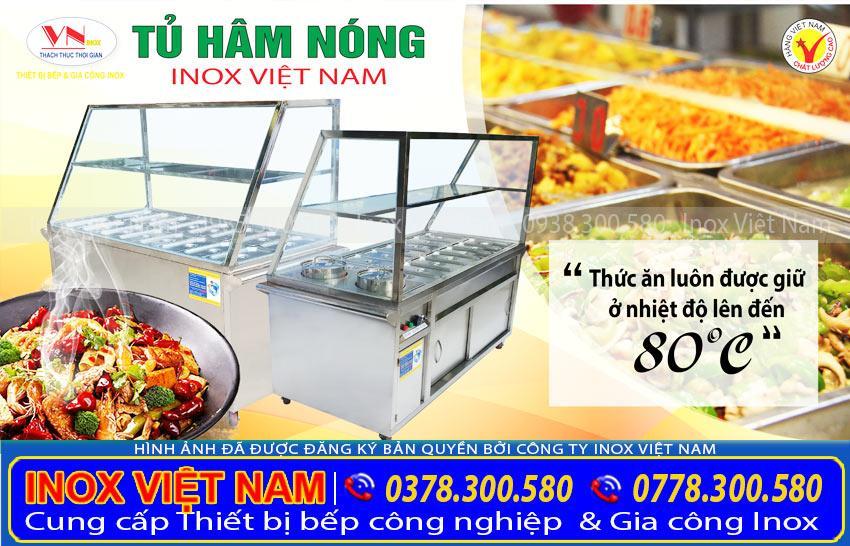 Tủ hâm nóng thức ăn, thiết bị nhà bếp, thiết bị bếp công nghiệp, thiết bị bếp nhà hàng, bếp inox công nghiệp
