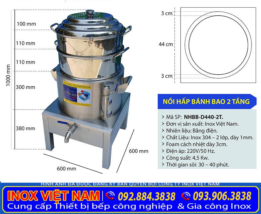 KICH-THUOC-NOI-HAP-BANH-BAO-BANG-DIEN-2-TANG-NHBB-D440-2T