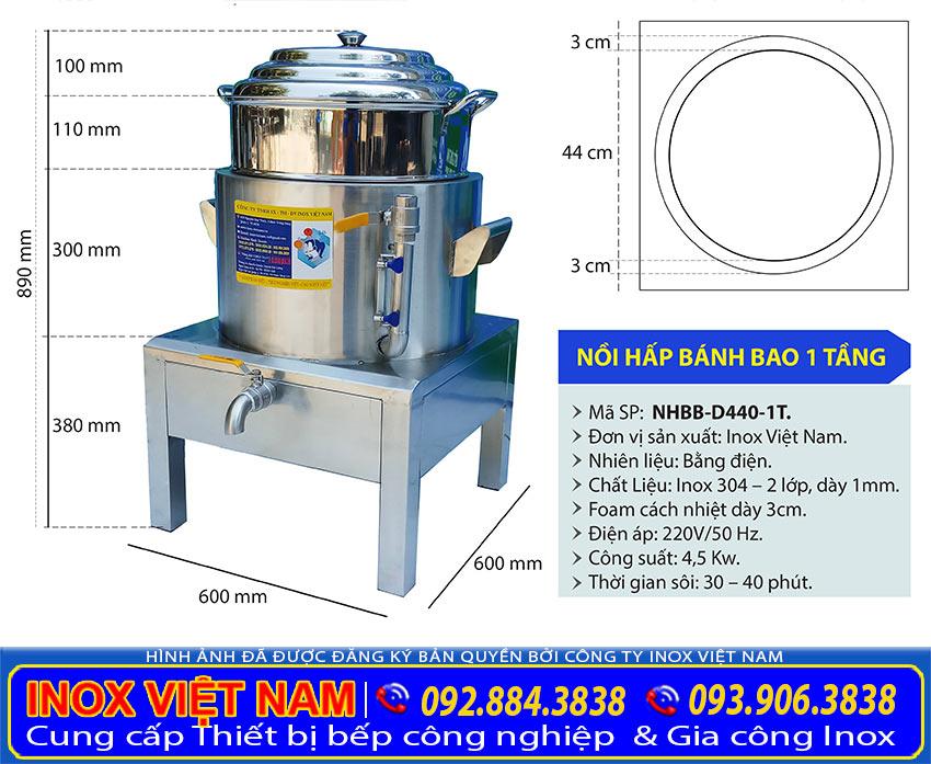 KICH-THUOC-NOI-HAP-BANH-BAO-DIEN-1-TANG-NHBB-D440-1T