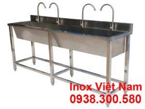 Máng rửa tay inox công nghiệp 2m