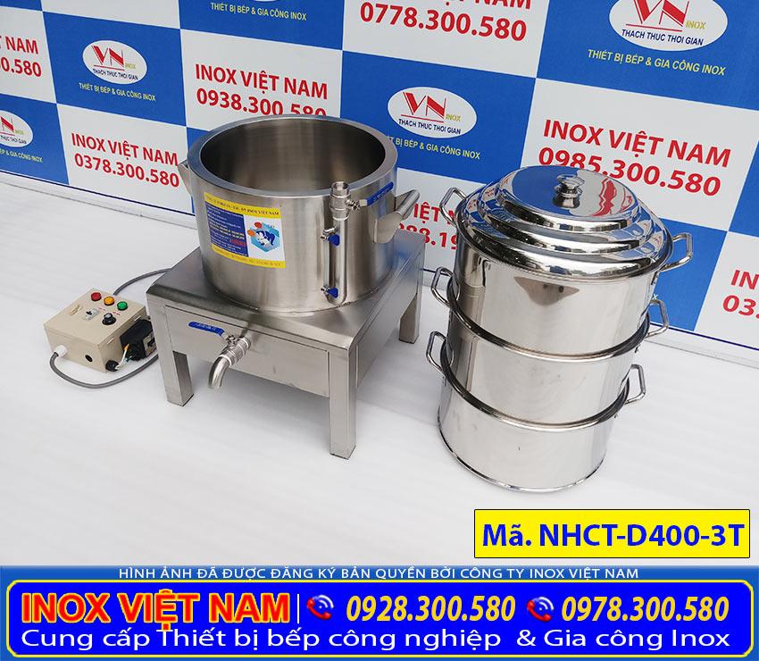 Nồi hấp cơm tấm điện 3tầng D400-3T