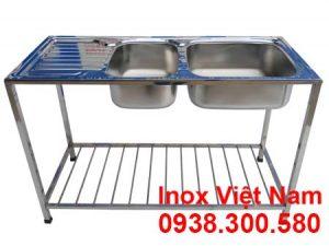 chau-rua-2-hoc-inox-304-co-khung-chan-su-dung-gia-dinh