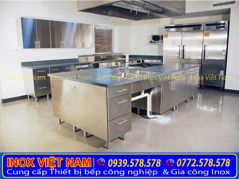 Tủ bếp inox 304, tủ đựng chén bát bằng inox cao cấp