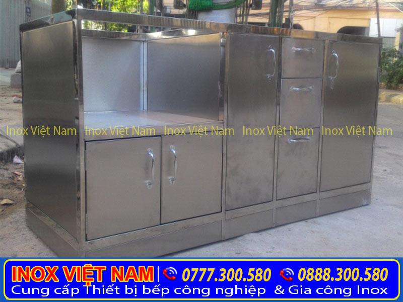 Tủ đựng chén bát bằng inox 304 cao cấp Inox Việt Nam