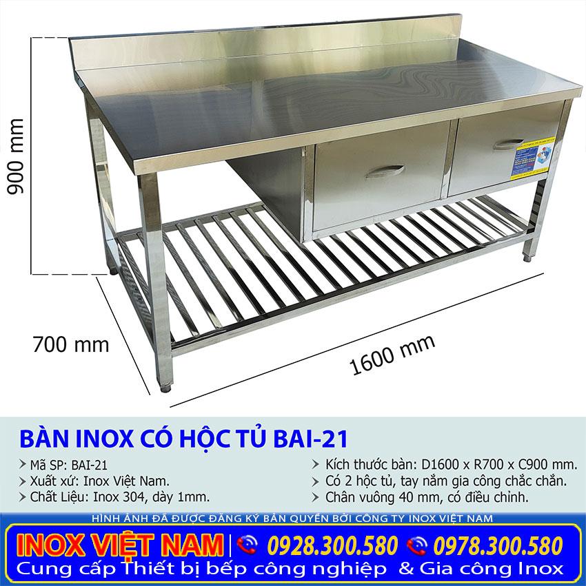 kich-thuoc-ban-bep-inox-co-2-hoc-tu