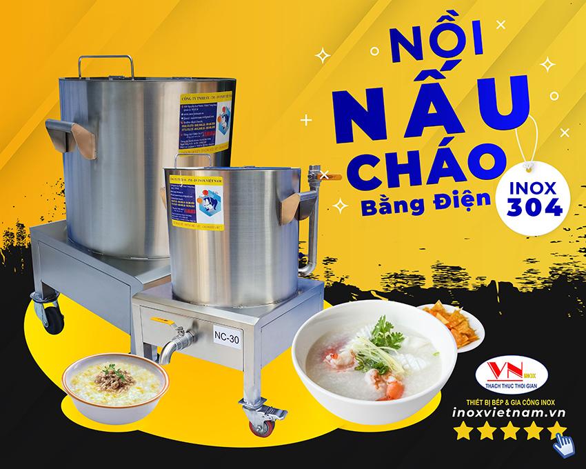 Nồi nấu cháo bằng điện công nghiệp tại INOX VIỆT NAM