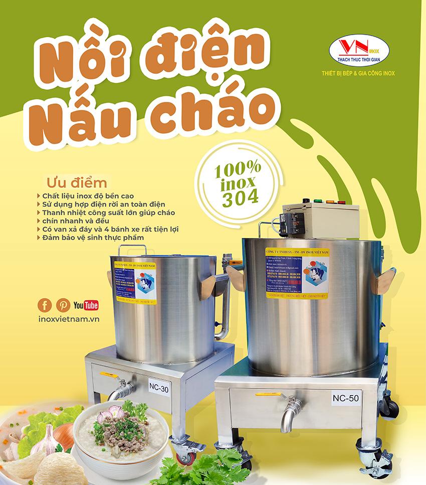 Nồi nấu cháo công nghiệp tại Inox Việt Nam có những ưu điểm