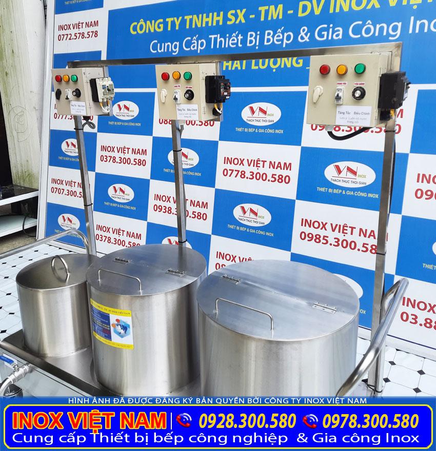 Bộ 3 nồi nấu phở bằng điện 30 lít - 80 lít - 100 lít