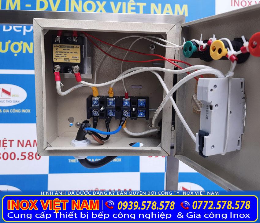 Hộp điện của nồi nấu phở bằng điện tại Inox Việt Nam