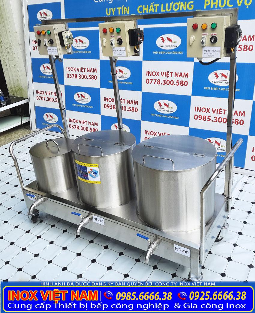 Mẫu bộ ba nồi nấu phở điện 30l 70l 90l giá tốt tại tphcm