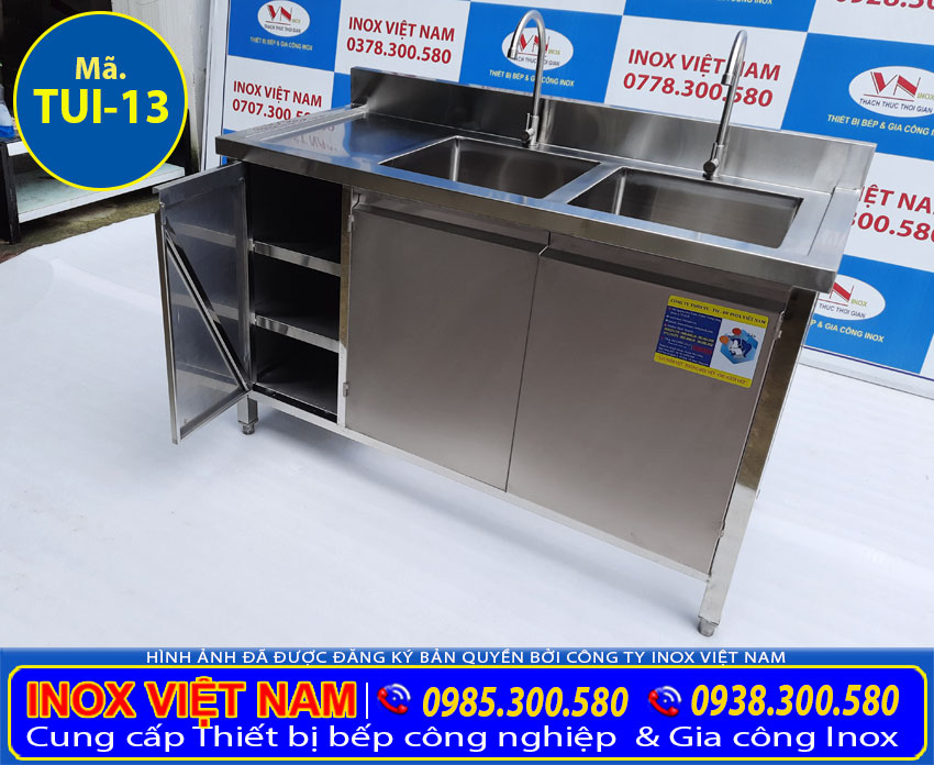 Báo giá tủ bồn rửa bát inox TUI-12