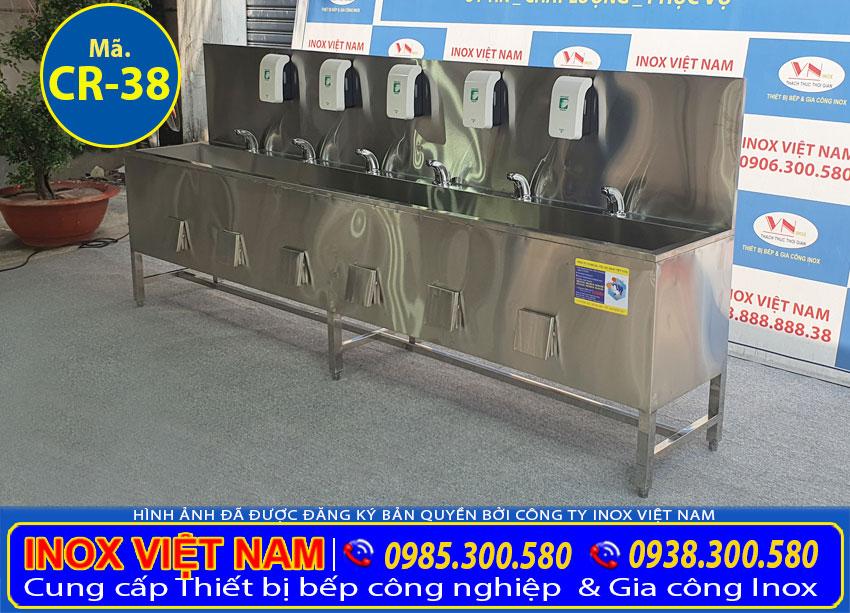 Chậu rửa tay inox công nghiệp CR-38 (02)