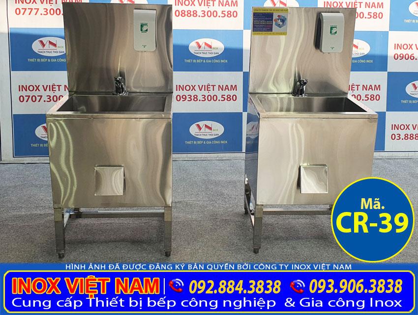 Máng rửa tay inox công nghiệp cr-39 (03)