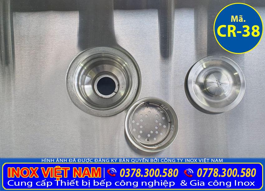 Xi phong thoái nước của chậu rửa tay inox công nghiệp CR-38