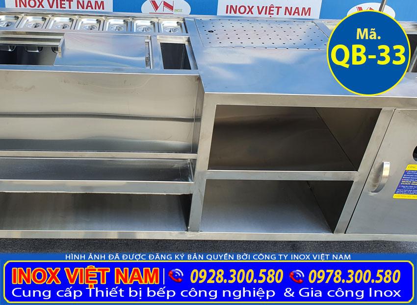 Hộc quầy pha chế inox QB-33