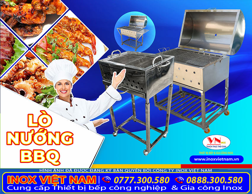 Lò nướng BBQ inox 304 chất lượng cao