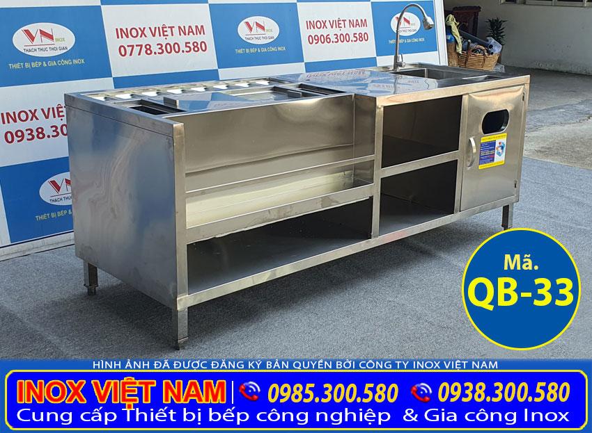 Quầy pha chế inox QB-33 (01)