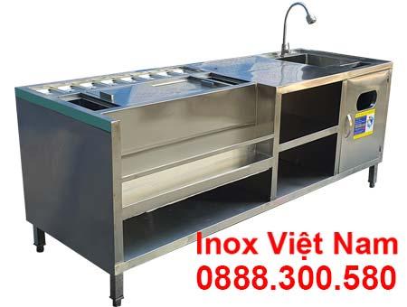 Quầy pha chế inox QB-33