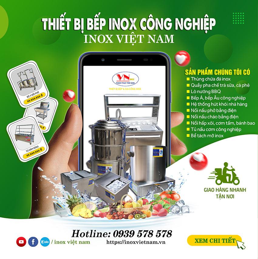 Thiết bị bếp inox công nghiệp chất lượng cao