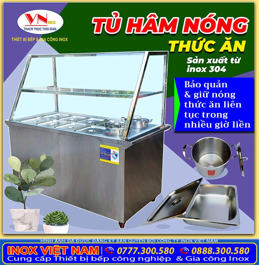Tủ hâm nóng thức ăn bảo quản thức ăn nóng hổi thơm ngon