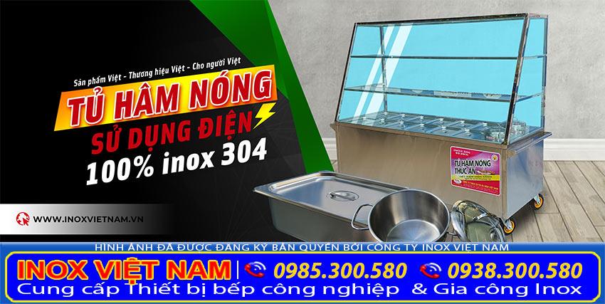 Tủ hâm nóng thức ăn sử dụng điện chất liệu inox 304 cao cấp