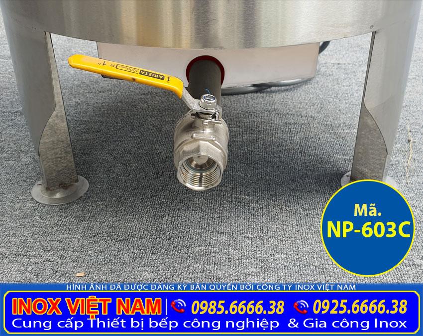 Vòi xả nồi nấu phở bằng điện 3 chân NP-603C
