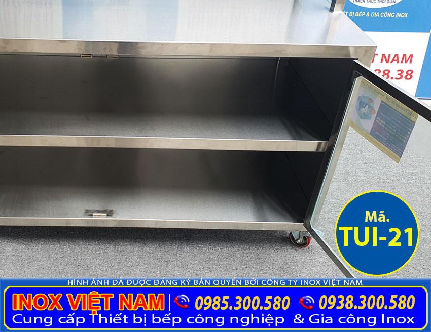 Hộc tủ tủ inox nhà bếp TUI-21