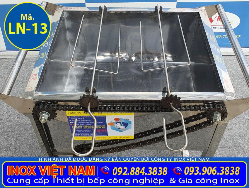 Lò nướng inox 2 xiên tự động quay LN-13 (01)
