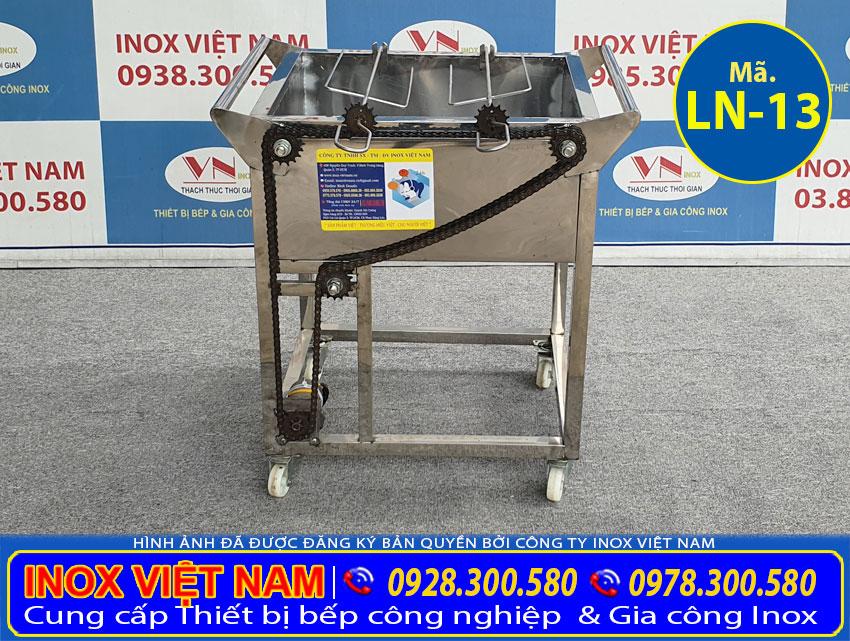 Lò nướng inox 2 xiên tự động quay LN-13
