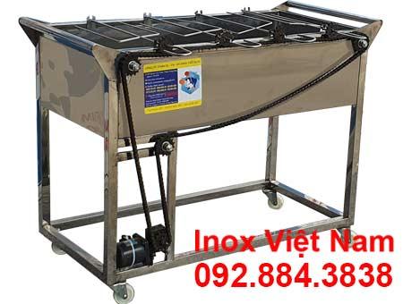 Lò nướng inox 4 xiên tự động quay LN-12 (04)