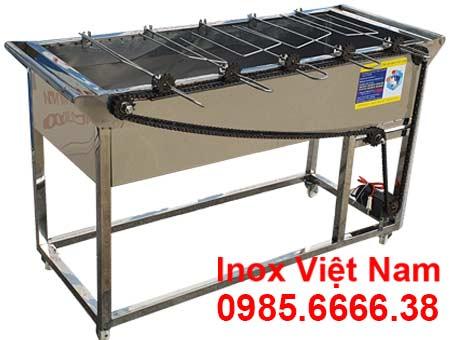 Lò nướng inox 5 xiên tự động quay LN-11