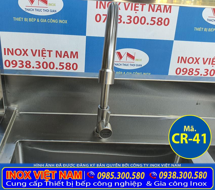 Vòi xả nước chậu inox có kệ trên CR-41