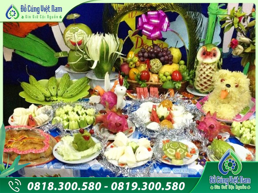 Mâm cúng trung thu truyền thống Việt Nam